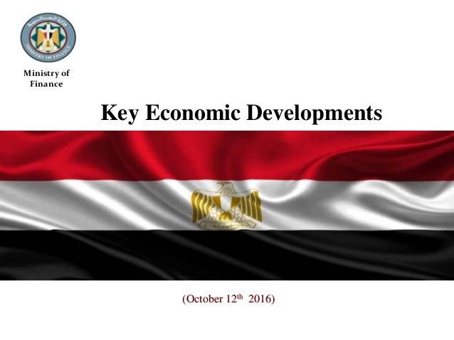 (October 12th 2016) Ministry of Finance Key Economic Developments