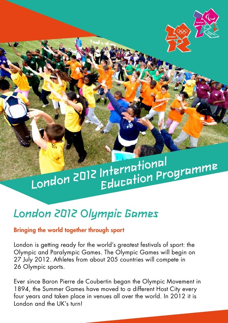 ationalogramme                    Intern tion Pr       Londo n 2012 EducaLondon 2012 Olympic GamesBringing the world toget...