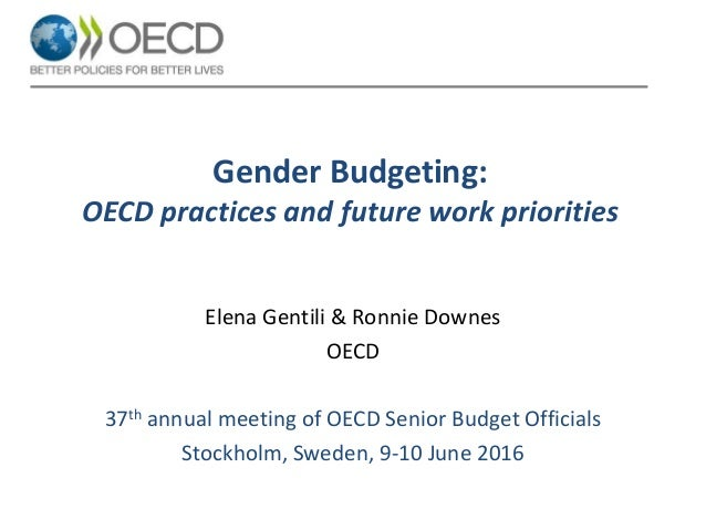 Gender Budgeting - Ronnie Downes, Elena Gentili, OECD