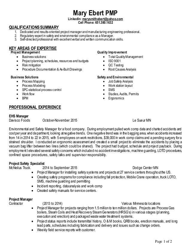 Ehs Resume Top 12 Ehs Resume Tips In This File You Can Ref Resume Materials  For