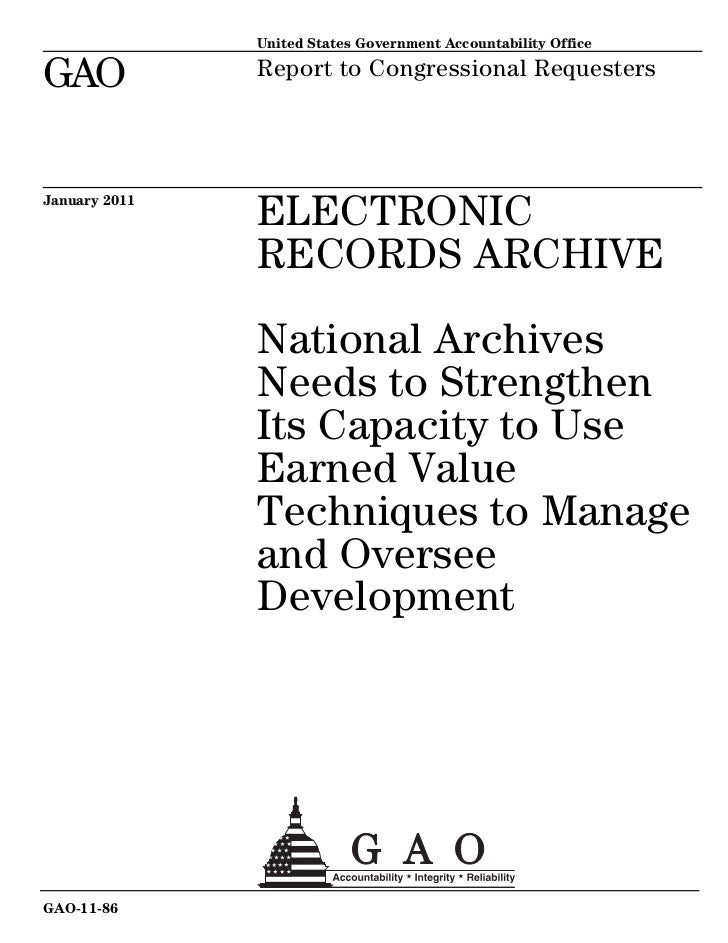 United States Government Accountability OfficeGAO            Report to Congressional RequestersJanuary 2011               ...