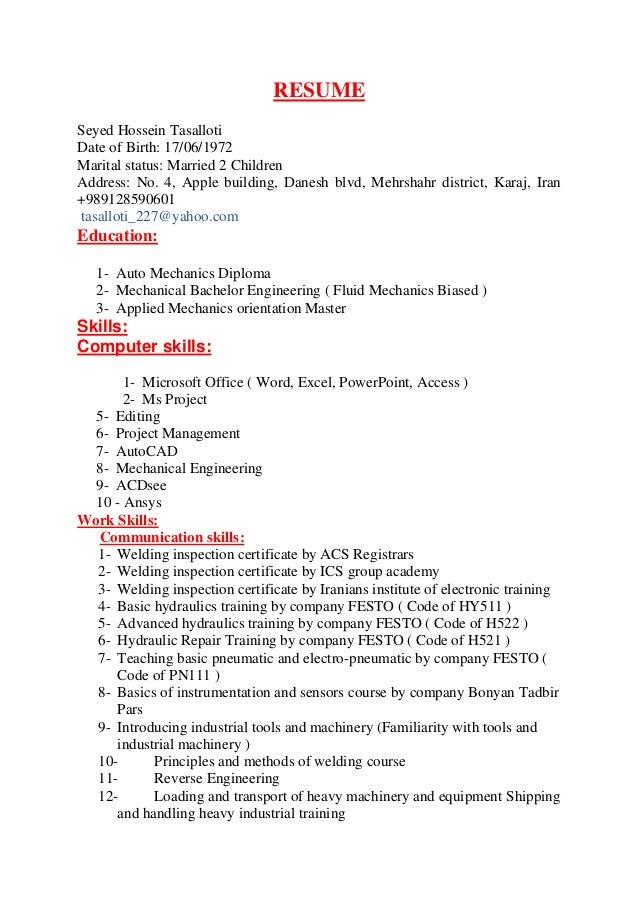 resume  english 2525