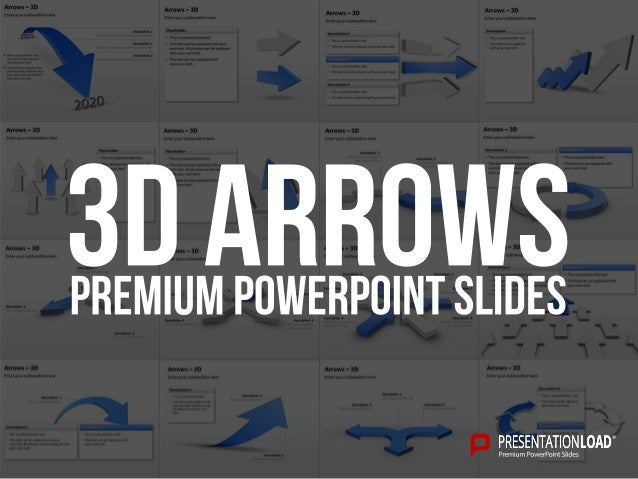 Arrows ‒ 3D 3D Arrows PowerPoint Template Placeholder  This is a placeholder text.  This text can be replaced with your ...