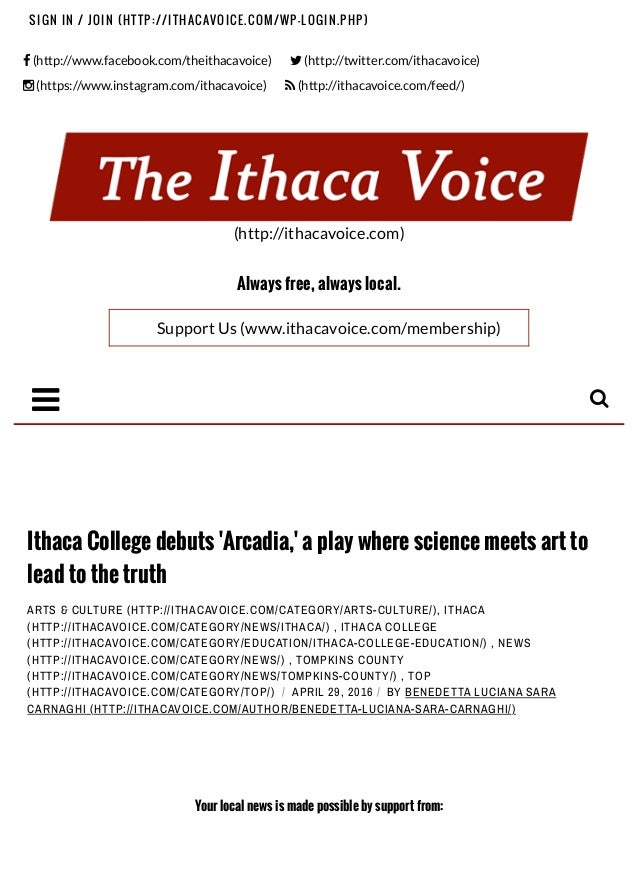"""! (http://www.facebook.com/theithacavoice) """" (http://twitter.com/ithacavoice) # (https://www.instagram.com/ithacavoice) $ ..."""