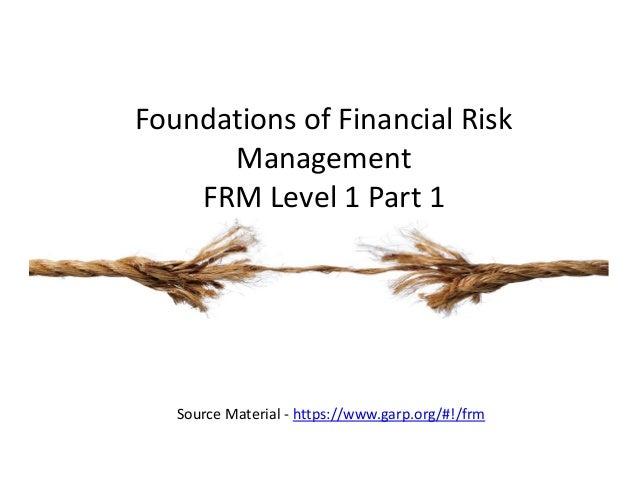 Frm Level 1 Part 1 Foundations Of Risk Management