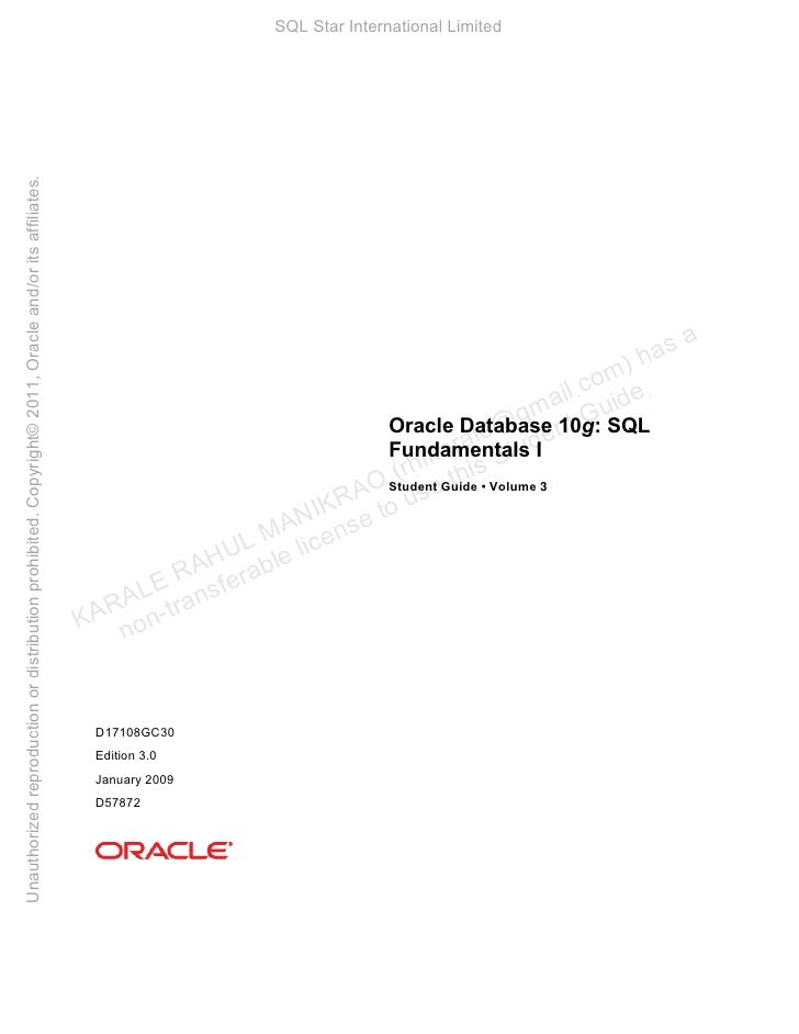 Unauthorized reproduction or distribution prohibited. Copyright© 2011, Oracle and/or its affiliates.                      ...