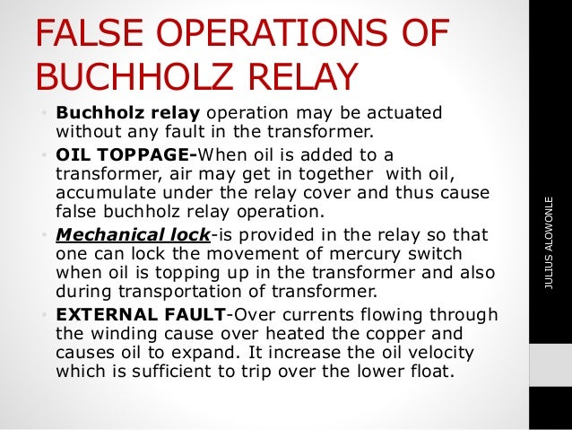 BUCHHOLZ RELAY ON TRANSFORMER