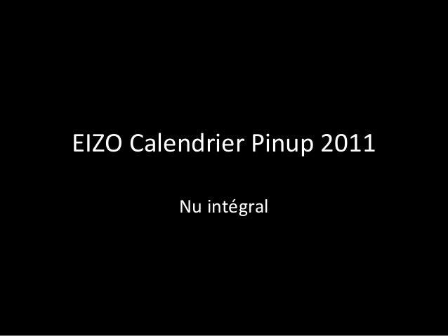 EIZO Calendrier Pinup 2011 Nu intégral