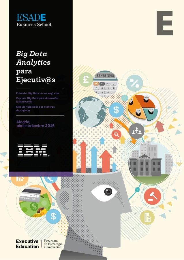 Executive Education Programa de Estrategia e Innovación Madrid, abril-noviembre 2016 Big Data Analytics para Ejecutiv@s En...