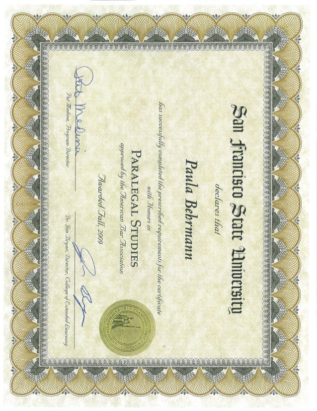 paralegal certificate slideshare sfsu upcoming