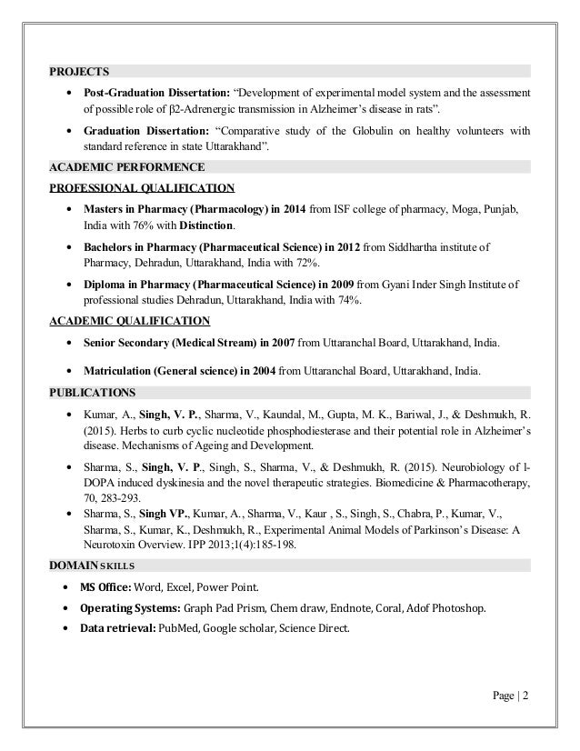 resume of vijay m pharma  pharmacology