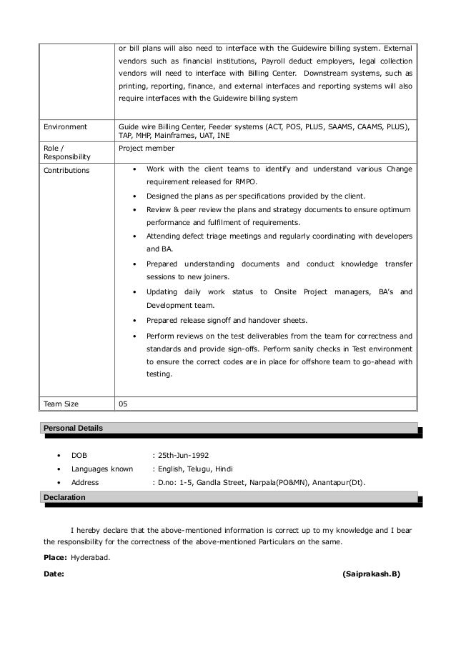 Guidewire Resume Nmdnconference Example Resume And Cover Letter