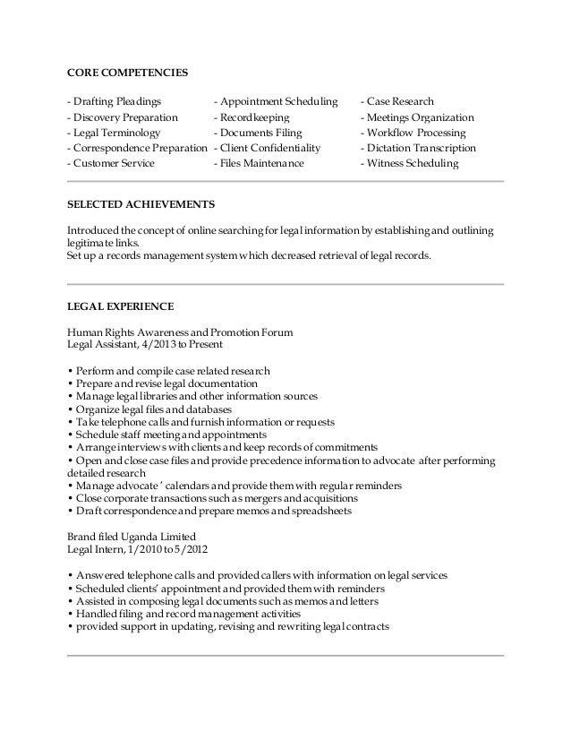 15 03 13 Hussein Kato Muyinda Legal Assistant Resume – Legal Assistant Resume