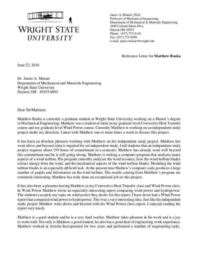 Reference letter from prof menart james a menart phd professor of mechanical engineering department of mechanical spiritdancerdesigns Images