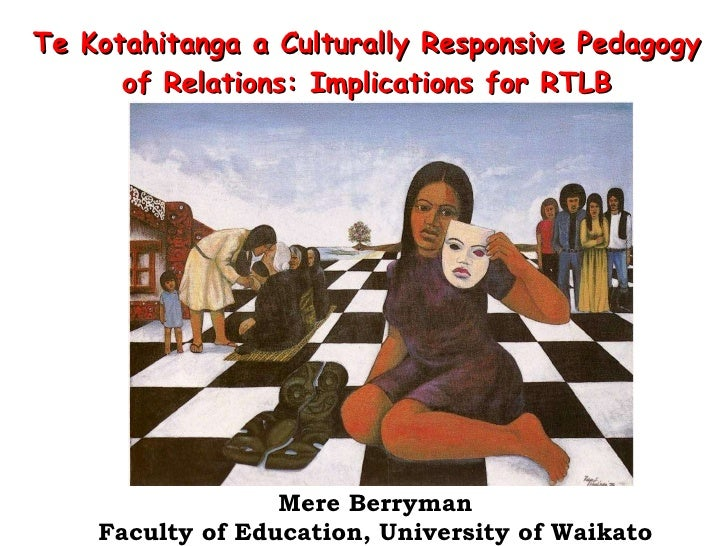 Te Kotahitanga a  Culturally Responsive Pedagogy of Relations:  Implications for RTLB Mere Berryman Faculty of Education, ...