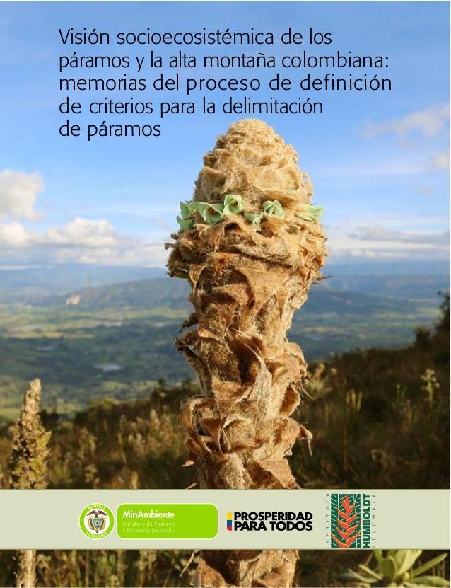 Visión socioecosistémica de los páramos y la alta montaña colombiana: memorias del proceso de definición de criterios para...