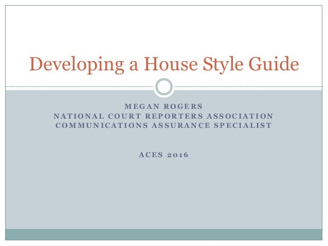 Developing a house style guide storyline for Home style guide