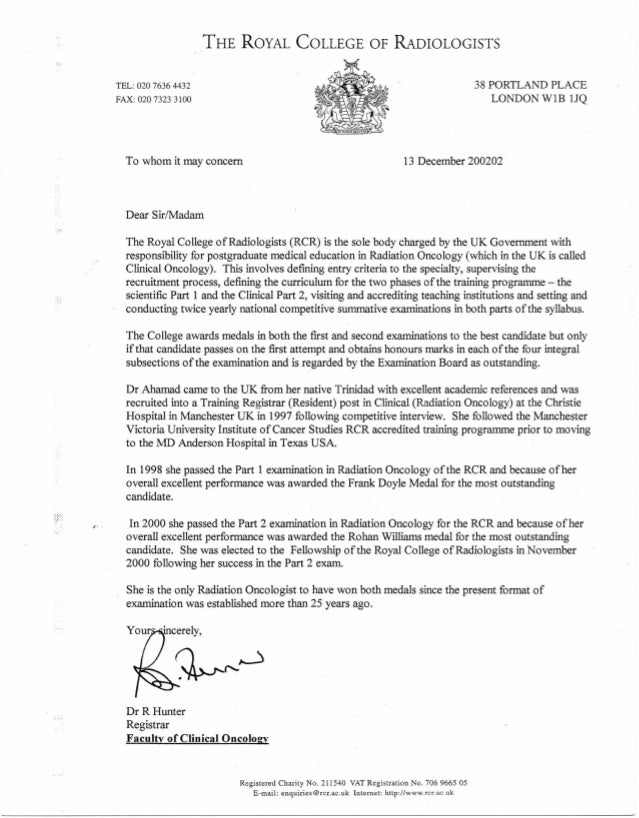 2002-12-13 Letter In lieu of Residency Certificate- Royal College