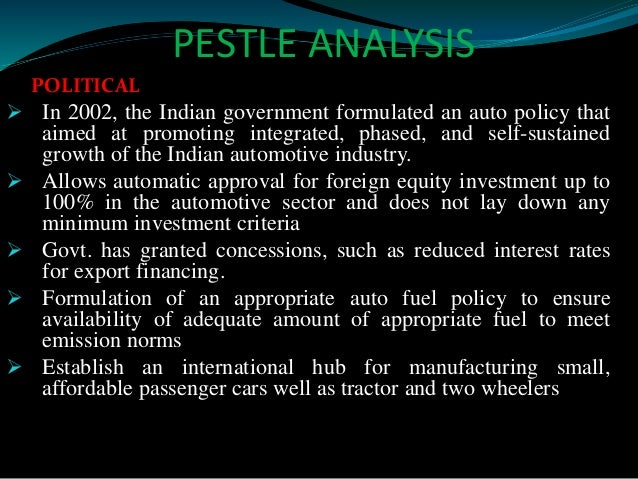 pest analysis of indian automobile industry