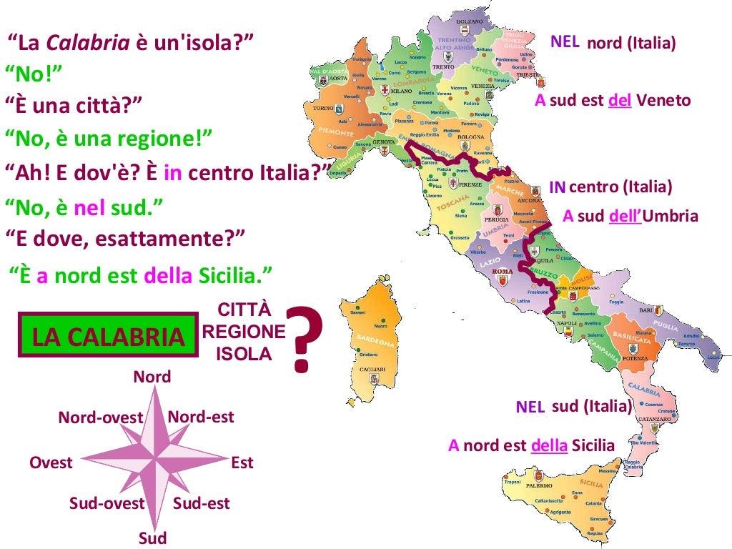 Cartina Italia Nord Sud Est Ovest.D1 M5 U12 P1