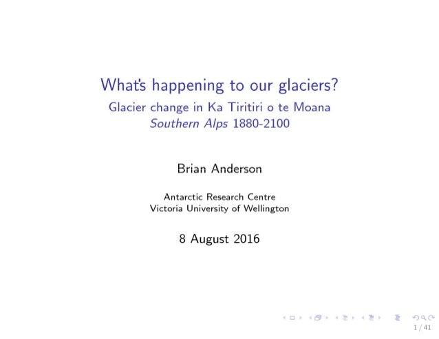 Brian Anderson: Retreating NZ Glaciers