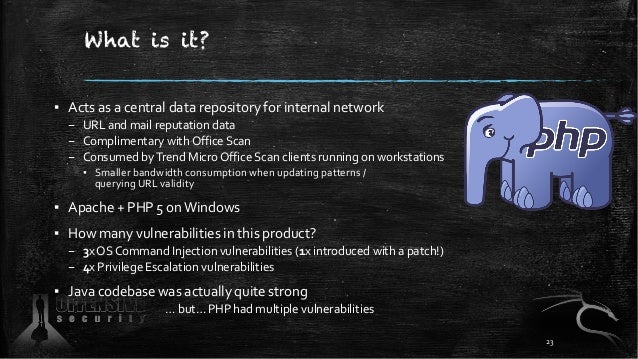What is it? ▪ Acts as a central data repository for internal network – URL and mail reputation data – Complimentary with O...