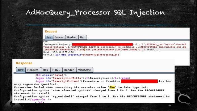 AdHocQuery_Processor SQL Injection 61