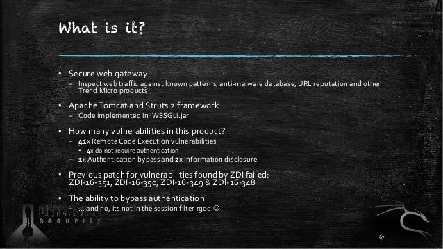 What is it? ▪ Secure web gateway – Inspect web traffic against known patterns, anti-malware database, URL reputation and o...