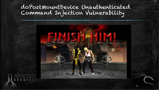 doPostMountDevice Unauthenticated Command Injection Vulnerability 75