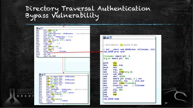 Directory Traversal Authentication Bypass Vulnerability 90