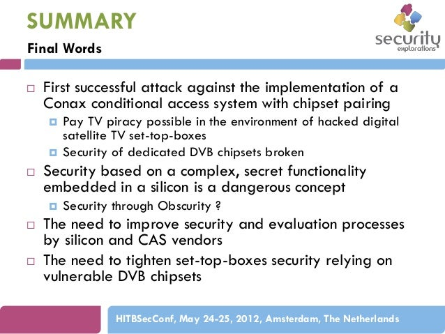 security vulnerabilities of dvb chipsets
