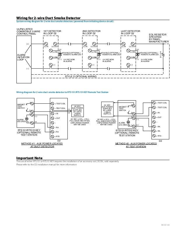 duct smoke detector remote test station wiring diagram 1 humans ofd2 rh  slideshare net smoke detector