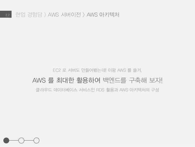 현업 경험담 > AWS 서버이전 > AWS 아키텍처2.2 EC2 로 서버도 만들어봤는데! 이왕 AWS 를 쓸거, AWS 를 최대한 활용하여 백엔드를 구축해 보자! 클라우드 데이터베이스 서비스인 RDS 활용과 AWS 아키...