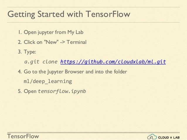 Introduction To TensorFlow   Deep Learning Using TensorFlow   CloudxL…