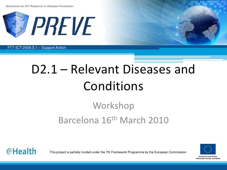 D2.1 relevant diseases and conditions