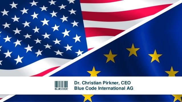 Dr. Christian Pirkner, CEO Blue Code International AG