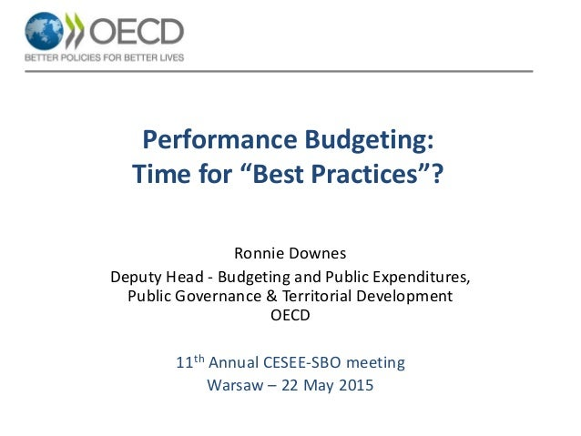 Performance budgeting: Time for