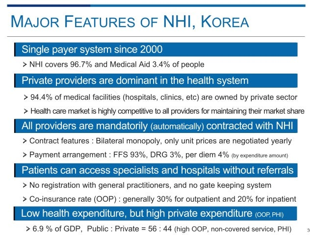 korean health insurance system Health infrastructure healthcare in north korea includes a national medical service and health insurance system north korea's government provides universal health.
