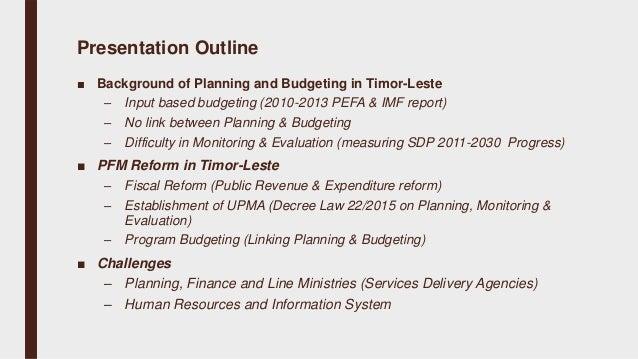 Budgetary governance reforms in Timor-Leste - Brigida Soares, Timor-L…