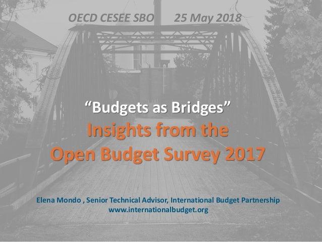 "Elena Mondo , Senior Technical Advisor, International Budget Partnership www.internationalbudget.org ""Budgets as Bridges"" ..."