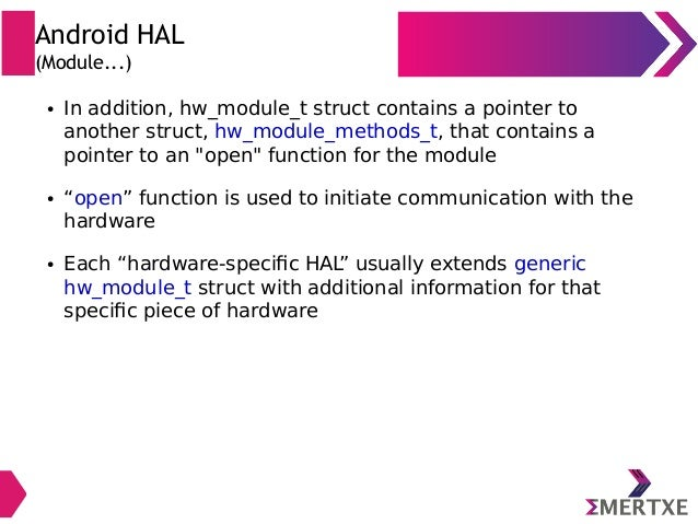 Embedded Android : System Development - Part II (HAL)