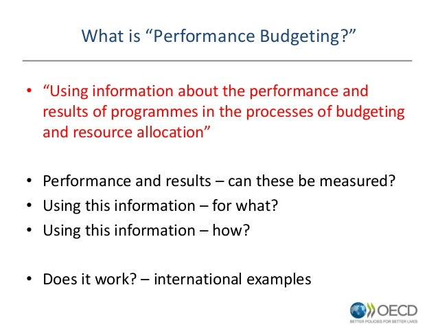 Performance budgeting in health: Outline of key issues - Ronnie Downe…