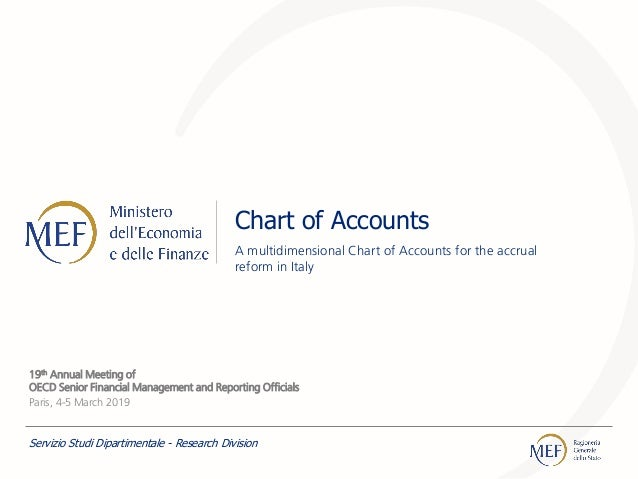 Chart of Accounts A multidimensional Chart of Accounts for the accrual reform in Italy 19th Annual Meeting of OECD Senior ...