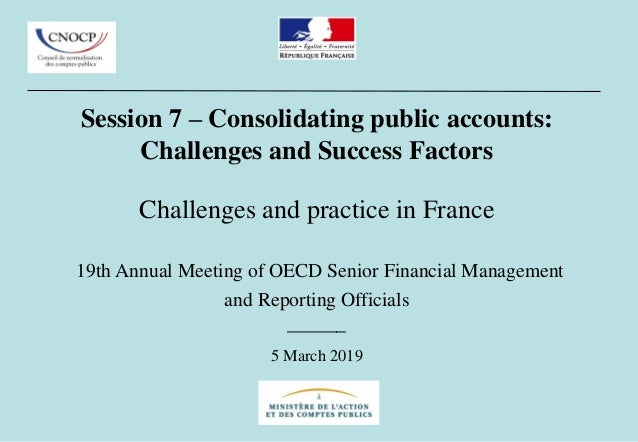Session 7 – Consolidating public accounts: Challenges and Success Factors Challenges and practice in France 19th Annual Me...
