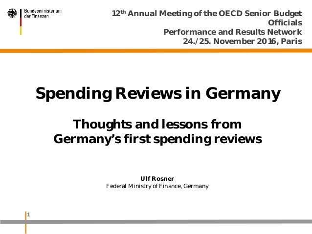 Spending reviews - Ulf Rosner, Germany