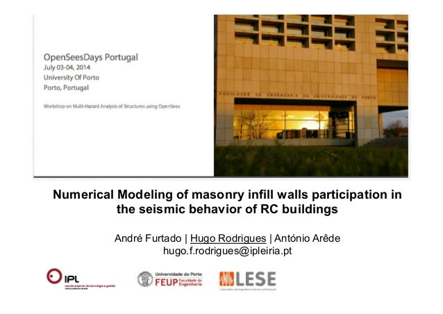 Numerical Modeling of masonry infill walls participation in  the seismic behavior of RC buildings  André Furtado | Hugo Ro...