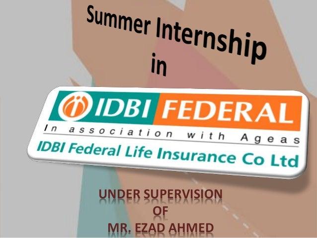 IDBI Federal Life insurance SIP presentation
