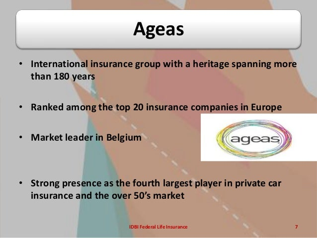 Ageas Car Insurance >> IDBI Federal Life insurance SIP presentation