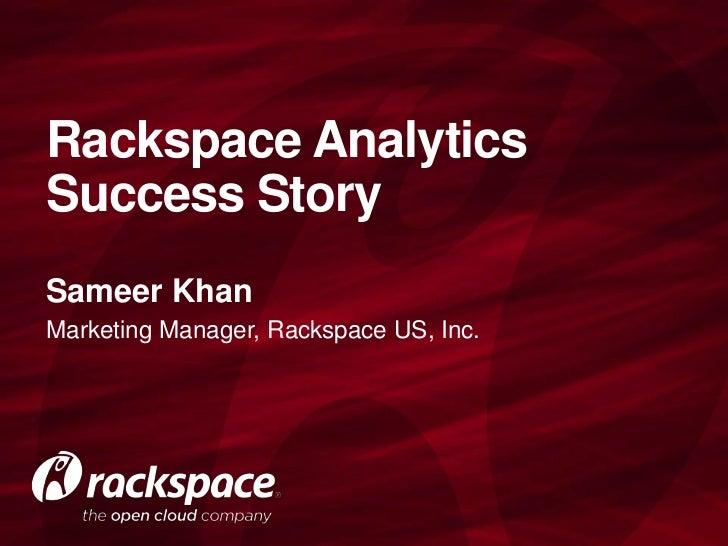 Rackspace Digital Analytics Success Story
