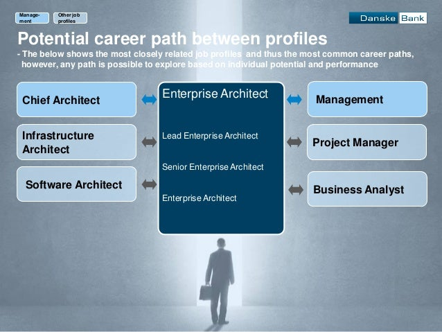 Potential career path between profiles